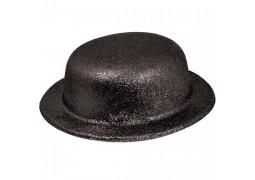 Chapeau melon paillettes noir