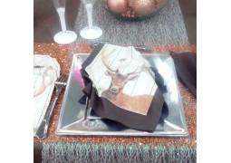 Chemin de table Glitter chocolat