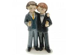 Figurine couple hommes en costume