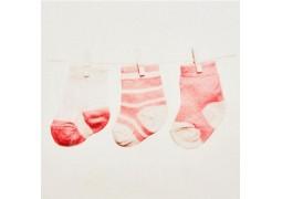 Chemin de table chaussettes roses