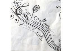 Serviettes de table musique