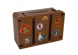 Tirelire valise voyage