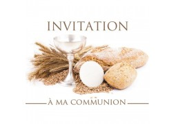 Cartes invitation à ma communion