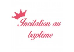 Cartes invitation au Baptême