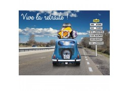 "Cartes invitation ""vive la retraite""!"
