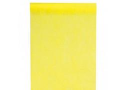 Chemin de table intissé économique jaune
