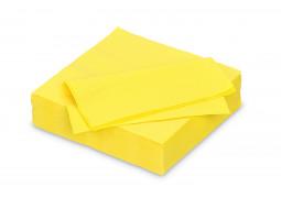 Serviettes papier jaune citron