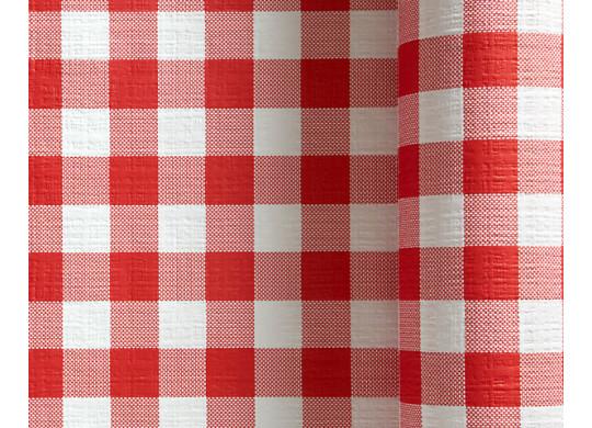 nappe damier rouge et blanc nappe d coration de table. Black Bedroom Furniture Sets. Home Design Ideas