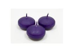 Bougies flottantes violettes