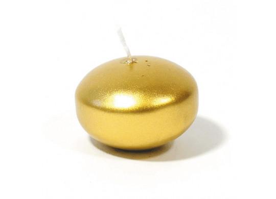 Bougies flottantes métallisées or