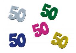 Confettis de table anniversaire 50