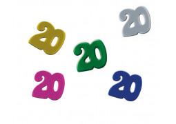Confettis de table anniversaire 20