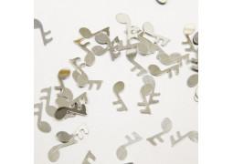 Confettis de table note de musique argent