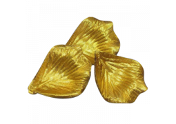 Pétale tissu métallisé or