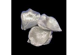 Pétale tissu métallisé argent