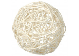 Boule rotin blanche