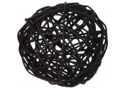 Boule rotin noir