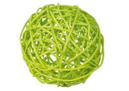 Boule rotin vert lime