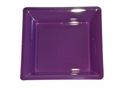 Assiettes carrées petit modèle 16.50 cm aubergine (prune)