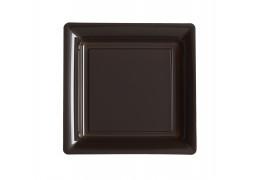 Assiettes carrées petit modèle 16.50 cm chocolat