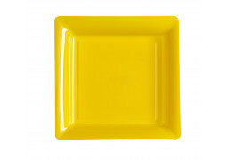 Assiette carrée petit modèle 16.50 cm jaune
