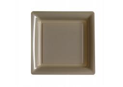 Assiette carrée petit modèle 16.50 cm taupe