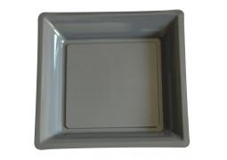Assiette carrée moyen modèle 21.50 cm ardoise (gris foncé)
