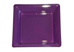 Assiette carrée moyen modèle 21.50 cm aubergine (prune)