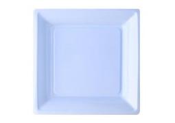 Assiette carrée moyen modèle 21.50 cm ciel