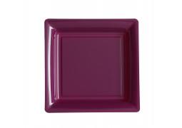 Assiette carrée moyen modèle 21.50 cm framboise (fuchsia foncé)