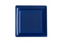 Assiette carrée moyen modèle 21.50 cm marine