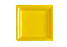 Assiette carrée moyen modèle 21.50 cm jaune