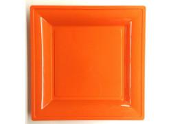 Assiette carrée moyen modèle 21.50 cm orange