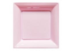Assiette carrée moyen modèle 21.50 cm rose