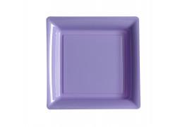 Assiette carrée moyen modèle 21.50 cm parme