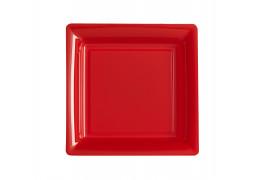 Assiette carrée moyen modèle 21.50 cm rouge
