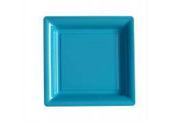 Assiette carrée moyen modèle 21.50 cm turquoise