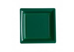 Assiette carrée moyen modèle 21.50 cm vert foncé