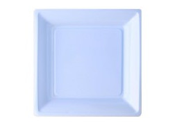 Assiette carrée grand modèle 30.50 cm ciel