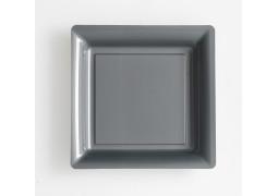 Assiette carrée grand modèle 30.50 cm grise