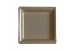 Assiette carrée grand modèle 30.50 cm taupe