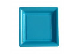 Assiette carrée grand modèle 30.50 cm turquoise