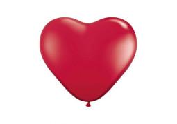 Ballon coeur bordeaux