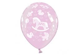 Ballon naissance rose