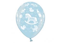 Ballon naissance bleu