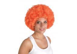 Perruque pop géante orange