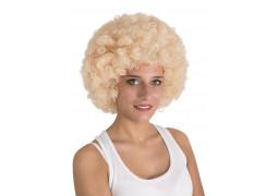 Perruque pop géante blonde