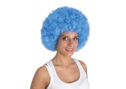 Perruque pop géante bleue