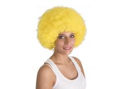 Perruque pop géante jaune