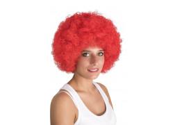 Perruque pop géante rouge